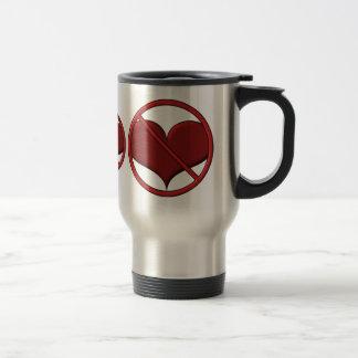 Corazón anti del el día de San Valentín: S.A.D. de Taza Térmica