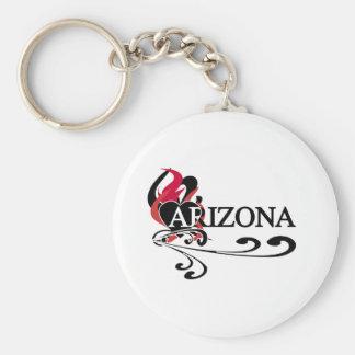 Corazón Arizona del fuego Llavero Redondo Tipo Chapa