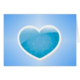 Corazón azul - hermana del feliz cumpleaños tarjeta de felicitación