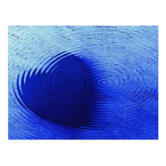 Corazón azul postal