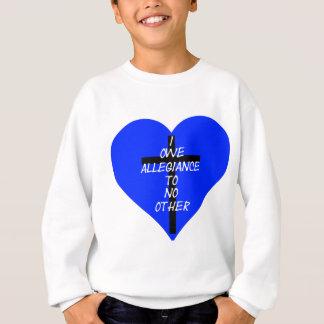Corazón azul y cruz de IOATNO Sudadera