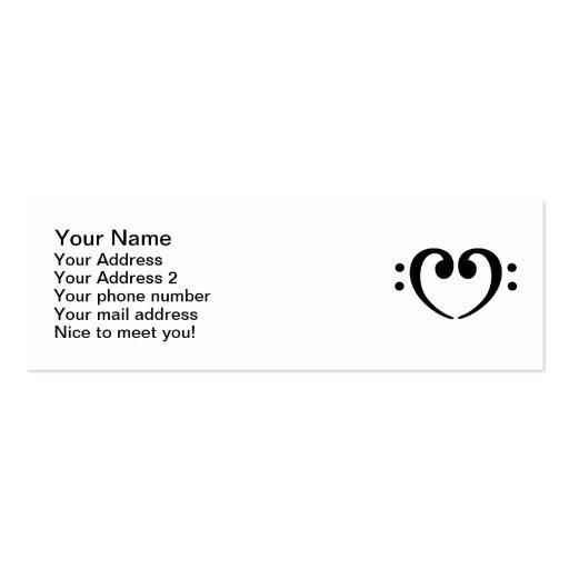 Corazón bajo de la nota plantilla de tarjeta personal