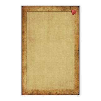 Corazón banal del vintage papelería
