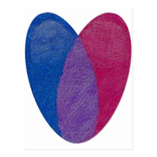 Corazón bisexual postal