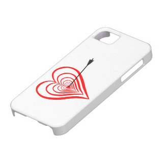Corazón blanco con flecha funda para iPhone SE/5/5s