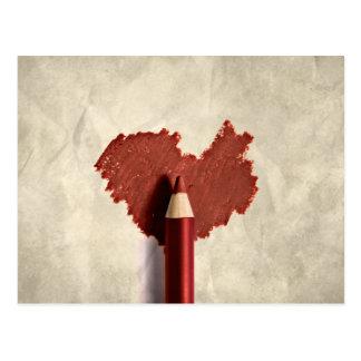 Corazón bosquejado - postal