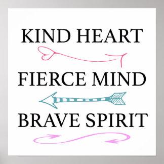 Corazón bueno, mente feroz, arte valiente de la