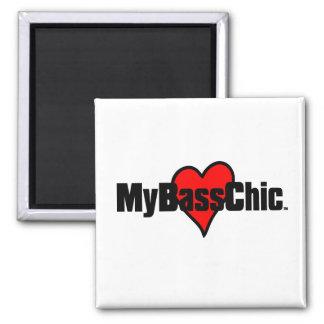 Corazón carmesí de MyBassChic (TM) Imán