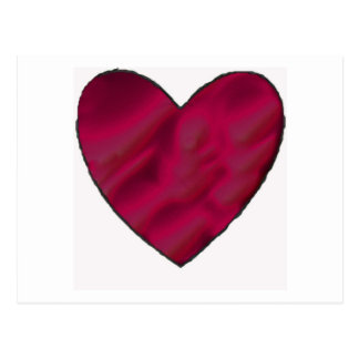 Corazón carmesí del amor postal