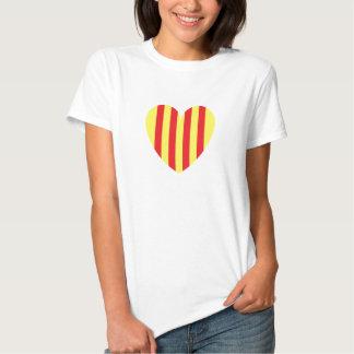 corazón catalan camiseta