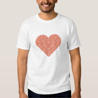Corazón chispeante impreso del diamante artificial camisetas