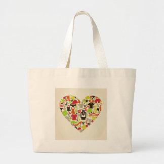 Corazón clothes2 bolso de tela gigante