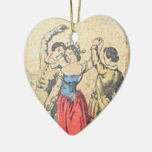Corazón colgante de Vera Sibilla del La Ornamentos De Reyes Magos