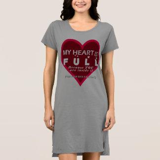 Corazón completo Dick largo - camiseta del camisón