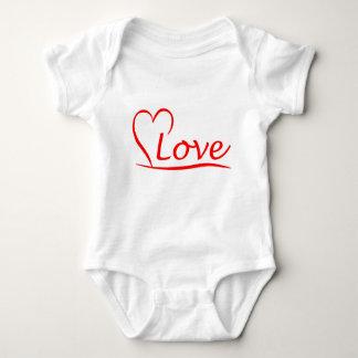 Corazón con amor body para bebé