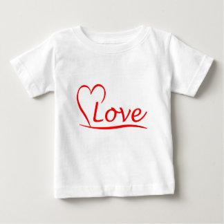 Corazón con amor camiseta de bebé