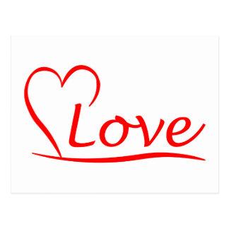 Corazón con amor postal