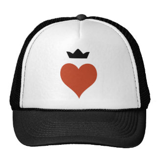 Corazón con la corona gorro de camionero