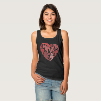 Corazón con las figuras camiseta con tirantes