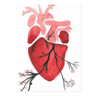 Corazón con las ramas postal