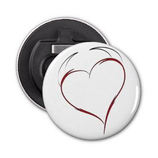 Corazón con los cuernos abrebotellas redondo