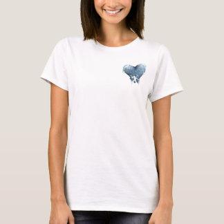 Corazón congelado (blanco) camiseta