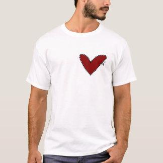corazón cortado camiseta