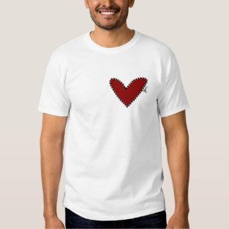 corazón cortado camisetas