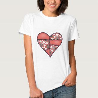 Corazón cosido acolchado rellenado Red-07 Camisas