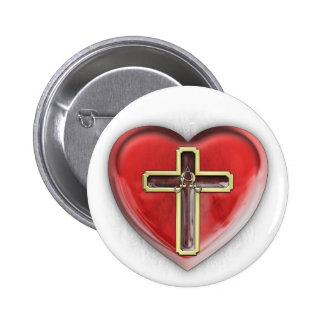 Corazón cristiano pin