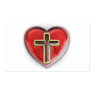 Corazón cristiano tarjetas de visita