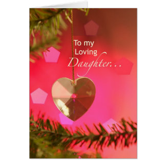 Corazón de 3401 hijas en tarjeta de Navidad del