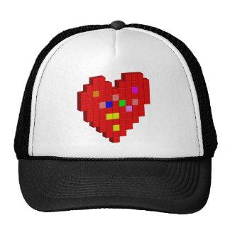 corazón de 8 bits gorro