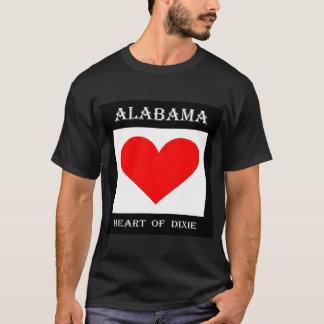 Corazón de Alabama de Dixie Camiseta