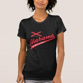 Corazón de Alabama de Dixie Camisetas