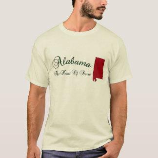 Corazón de Alabama de la camiseta de Dixie