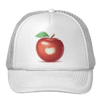 Corazón de Apple Gorra