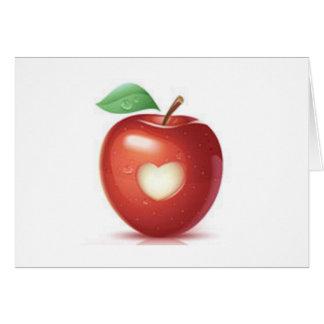Corazón de Apple Tarjeta De Felicitación