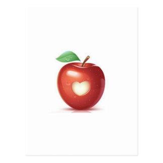 Corazón de Apple Postal