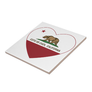 corazón de California flag coto de caza Teja