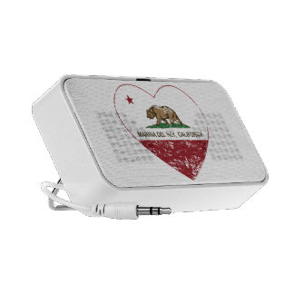 corazón de California flag marina del ray apenado Notebook Altavoz
