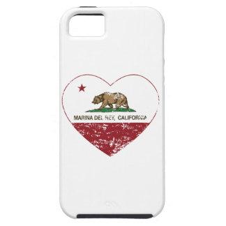 corazón de California flag marina del ray apenado iPhone 5 Case-Mate Coberturas