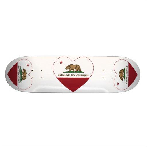 corazón de California flag marina del ray Monopatín Personalizado