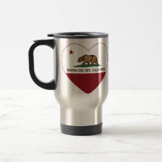 corazón de California flag marina del ray Tazas De Café