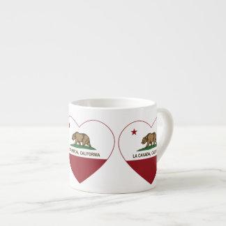 corazón de Canadá del la de la bandera de Californ Taza Espresso