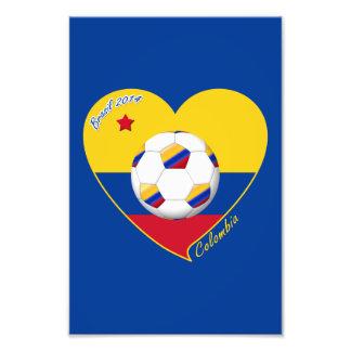 Corazón de COLOMBIA FÚTBOL y bandera nacional 2014 Fotografia