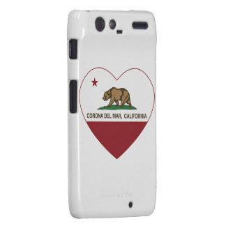 corazón de Corona del Mar de la bandera de Califor Droid RAZR Carcasa