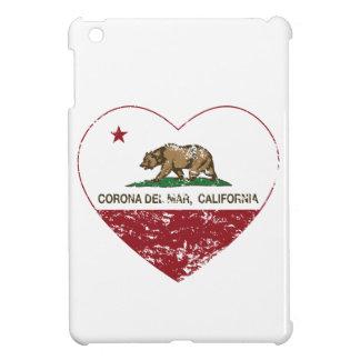 corazón de Corona del Mar de la bandera de Califor