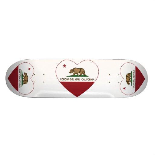 corazón de Corona del Mar de la bandera de Califor Patines Personalizados
