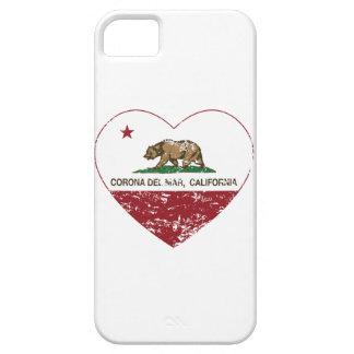 corazón de Corona del Mar de la bandera de iPhone 5 Case-Mate Funda